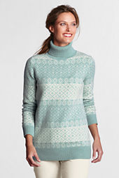 Women's FairIsle Wool Blend Turtleneck Tunic