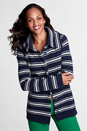 Women's Long Sleeve Stripe Felted Wool Jacket