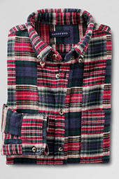 Men's Flannel Patchwork Shirt