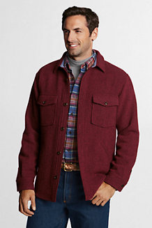 Men's Wool Shirt Jacket