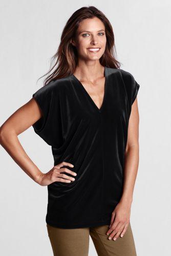Women's Regular Knit Velvet Tunic
