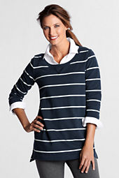 Women's 3/4-sleeve Stripe Starfish Lightweight Crew Tunic
