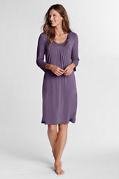 Women's 3/4-sleeve Rayon Sleep Gown