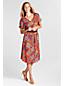 Women's Regular  Georgette Print  Pintuck Dress