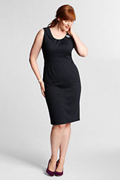 Women's Plus Size Sleeveless Ponté Sheath Dress