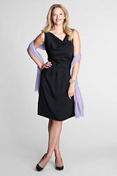 Women's Sleeveless Twill Bow Waist Dress