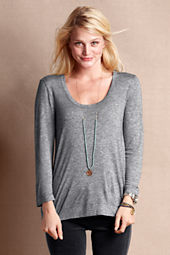 Women's Buttonback Scoopneck Tee