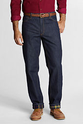 Men's Traditional Fit Flannel-lined Comfort Waist Jeans