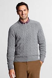 Men's Cashmere Cable Crewneck Sweater