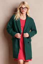 Women's Cropped Cocoon Coat