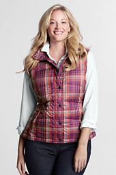 Women's Holiday Plaid Down Vest