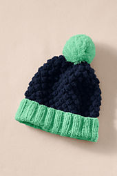 Women's Chunky Knit Pom-Pom Hat