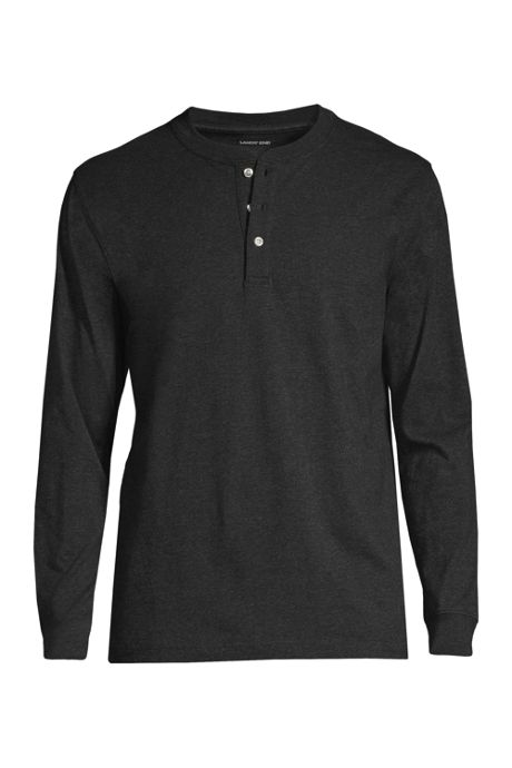 Men's Tall Super-T Long Sleeve Henley Shirt