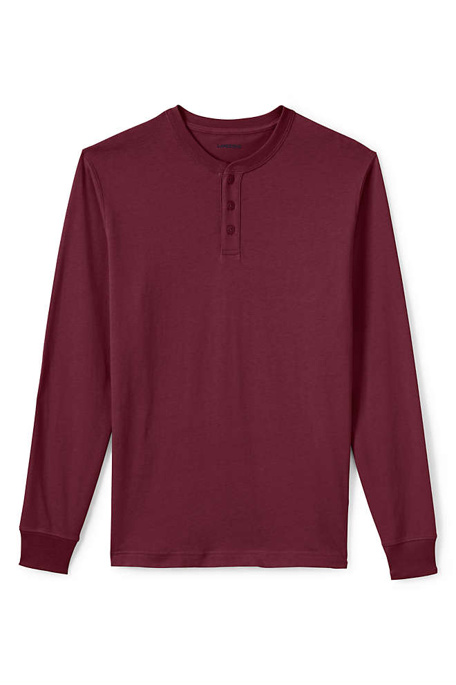 Men's Super-T Long Sleeve Henley Shirt, Front