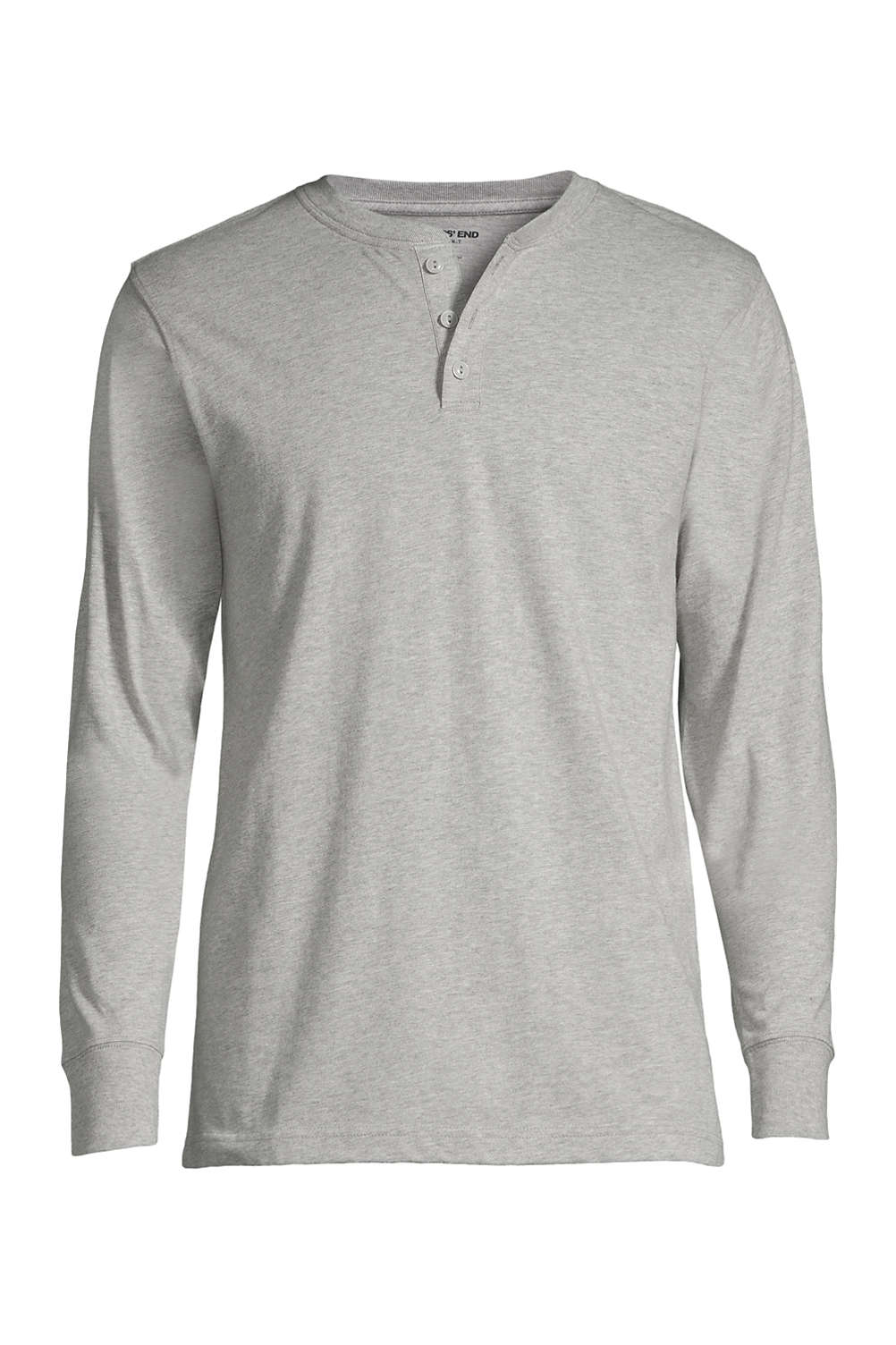 Men s Long Sleeve Super-T Henley from Lands  End f85faf3133d
