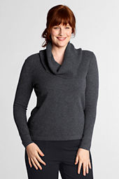 Women's Plus Size Long Sleeve Cashmere Cowlneck