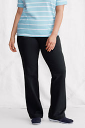 Women's Plus Size Cotton Spandex Jersey Boot-cut Pants