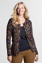 Women's Long Sleeve Merino Crewneck Cardigan