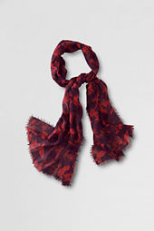 Women's Featherweight Bird Print Scarf