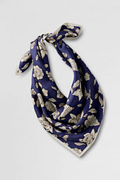 Women's Floral Silk Square