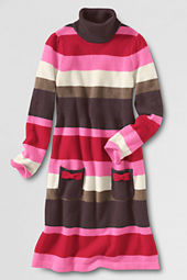Girls' Turleneck Sweater Dress