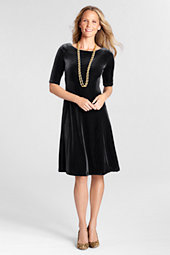 Women's Velvet Boatneck Dress