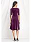 Women's Plus Velvet Boatneck Dress