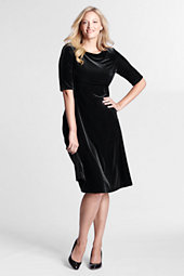 Women's Plus Velvet Boatneck Dress