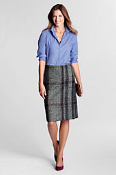 Women's Faux Wrap Tweed Skirt