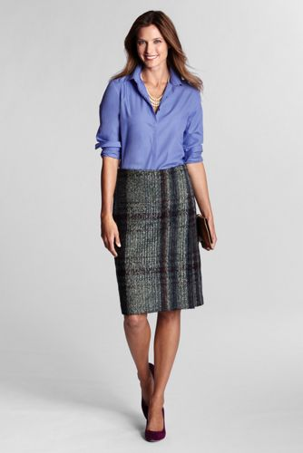 Tweed Faux Wrap Skirt