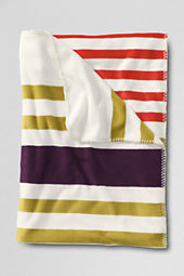 School Uniform Stripe Fleece Throw