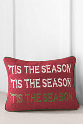 "12"" x 16"" Tis' The Season Needlepoint Decorative Pillow Cover or Insert"