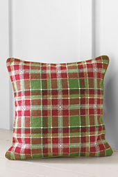 "16"" x 16""Plaid Needlepoint Decorative Pillow Cover"