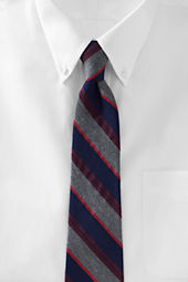 Men's Silk Wool Multi Stripe Necktie