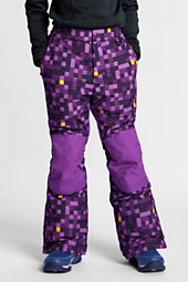 Girls' Squall Print Snow Pants