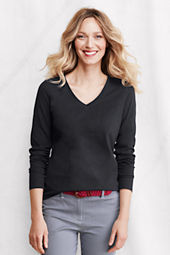 Women's Long Sleeve Relaxed Supima V-neck T-shirt