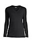 Women's Plus Supima Long Sleeved V-neck T-shirt