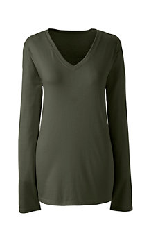 Women's Supima® Long Sleeved V-neck Tee