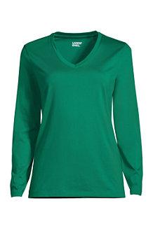 Women's Supima Long Sleeved V-neck T-shirt