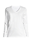 Le T-Shirt Supima Col V Manches Longues, Femme Stature Standard