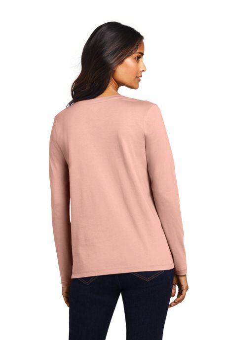 Women's Relaxed Long Sleeve T-shirt Supima Cotton V-Neck