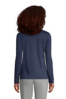 Women's Tall Relaxed Supima Cotton Long Sleeve V-Neck T-Shirt, Back