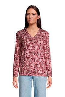 Women's Supima Long Sleeved V-neck T-shirt