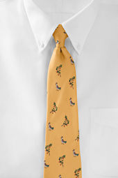 Men's Partridge in a Pear Tree Necktie