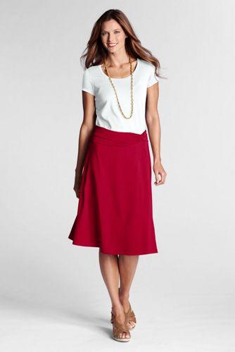 Women's Regular Knot Waist Skirt - Wild Cherry