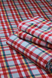 Girls' Plaid Flannel Sheet Set