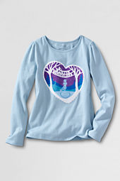 Little Girls' Long Sleeve Winter Wonderland Graphic T-shirt