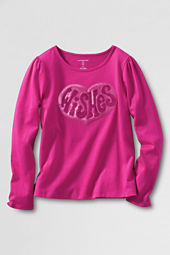 Girls' Long Sleeve Sparkle Wishes Graphic T-shirt