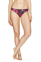 Women's Seaside Gardens Watercolor Floral Shirred Bikini Bottom