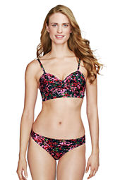 Women's Seaside Gardens Watercolor Floral Balconette Bikini Top